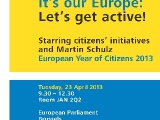 Eurpai Ombudsman 'It's our Europe: Let's get active!'